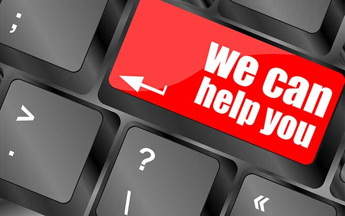 we can help you button