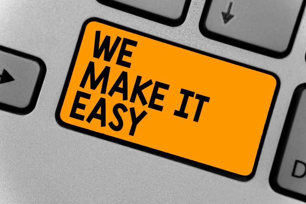 we make it easy to sell house fast for cash button