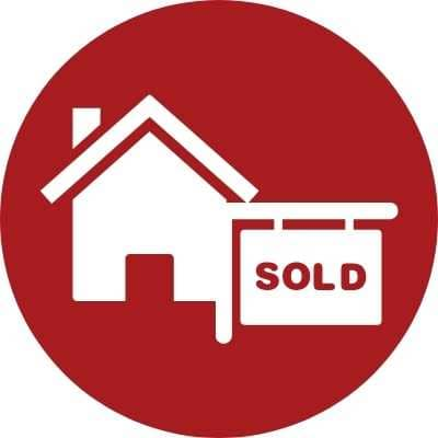 Red circle with Home Sold Sign
