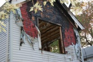 Fire damaged house selling as is