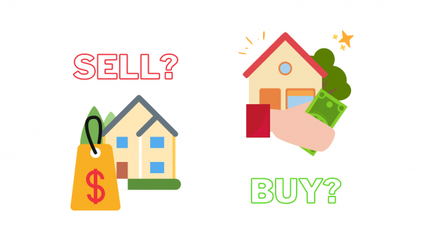 diagram showing selling and buying houses
