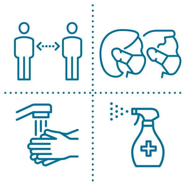 Symbols for covid sanitation