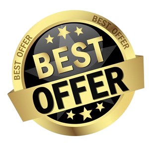 Gold and black best cash for house offer button