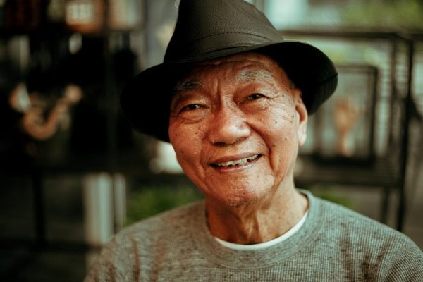 Happy senior citizen
